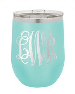 Monogram Personalized Insulated 12oz Wine Tumbler - Monogram That
