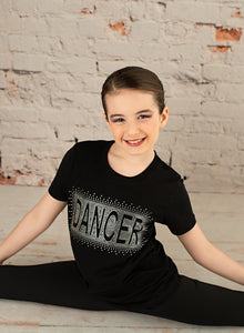 Dancer Full Out Rhinestone Tee - Monogram That