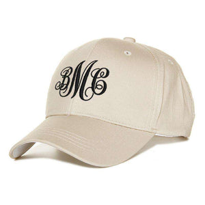 Custom Embroidery Baseball Hat - Decorative Monogram - Monogram That