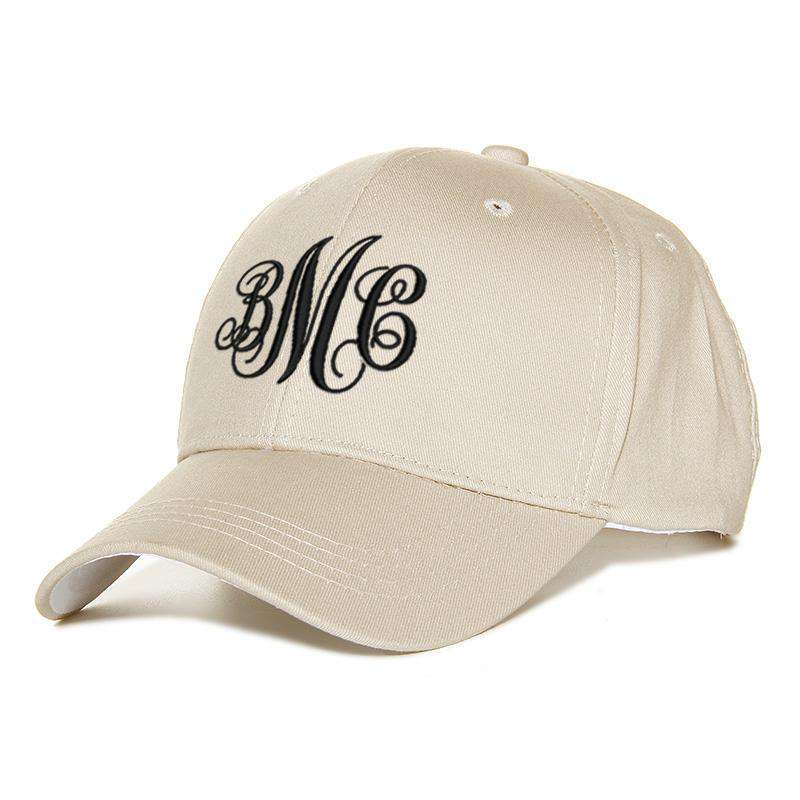 Custom Embroidery Baseball Hat - Decorative Monogram
