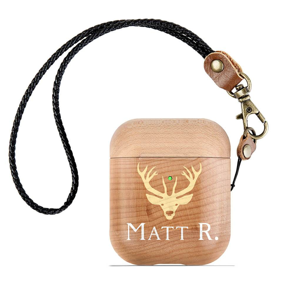 Custom Genuine Wood Airpod Case - Monogram That