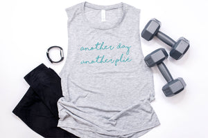 Another Day Another Plié Work Out Tank - Monogram That