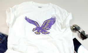 BlackHawks/Eagles Rhinestone Unisex Team Tee - Monogram That