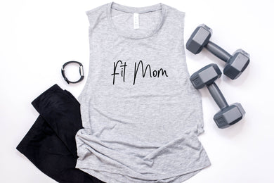 Fit Mom Muscle Tank - Monogram That