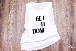 Get It Done Work Out Tank - Monogram That