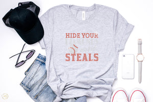Hide Your Diamonds My Kid Steals Rhinestone Unisex Tee - Monogram That