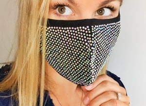 Crystal AB Bling Face Mask - Monogram That