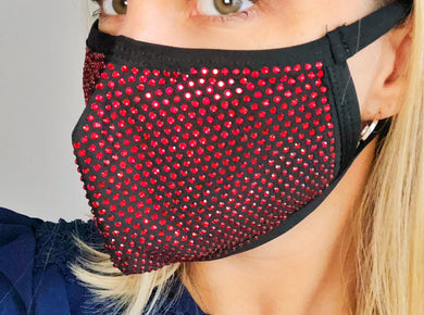 Red Bling Face Mask