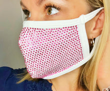 Pink Bling Face Mask - Monogram That