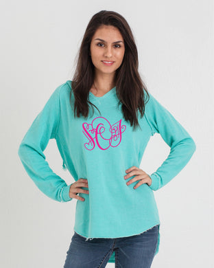 Monogram Initials Tunic Sweater - Monogram That
