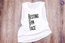 Resting Gym Face  Work Out Tank - Monogram That