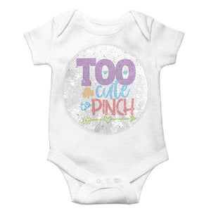 Custom Reversible Sequin Unisex Baby Bodysuit - Monogram That
