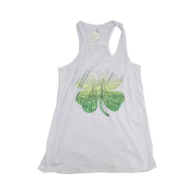 Rhinestone Shamrock Tank - Monogram That