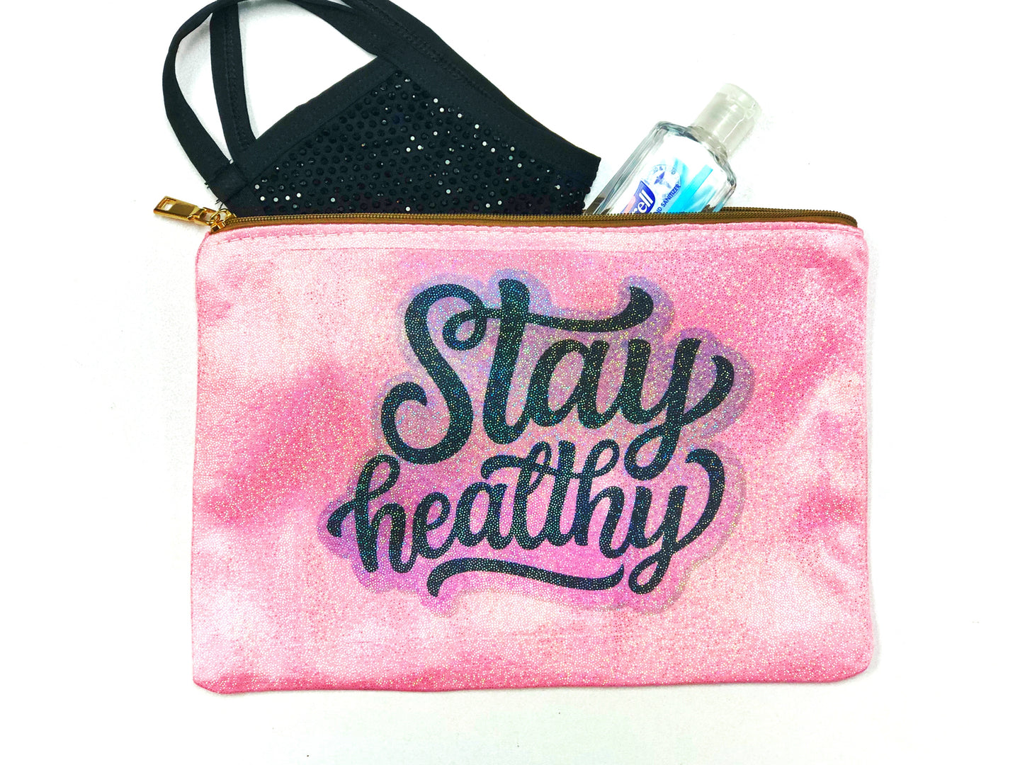 Stay Healthy Holder Zipper Bag - Monogram That