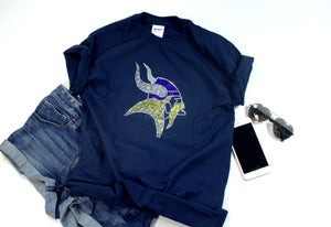 Vikings Rhinestone Unisex Team Tee - Monogram That