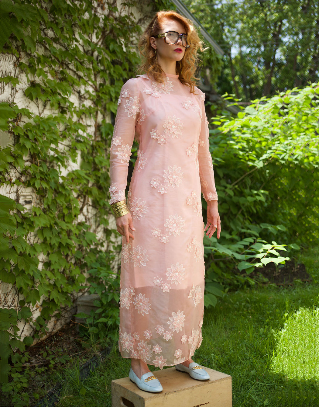 Queen Bee - Vintage Sheer Maxi Dress