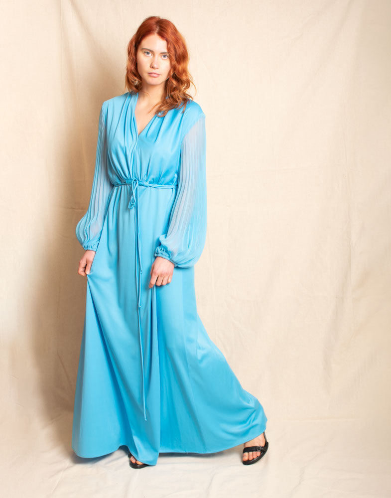 Ice Blue Formal Gown - Vintage