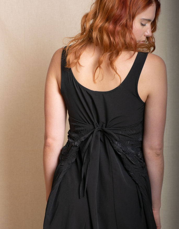 Little Black Dress - Tie at Waist