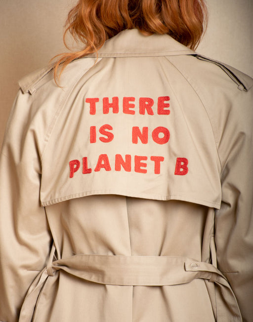 There is No Planet B - London Fog Custom Trench