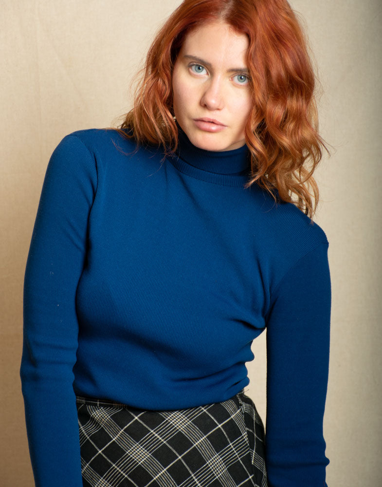 Blue Turtle Neck - Vintage