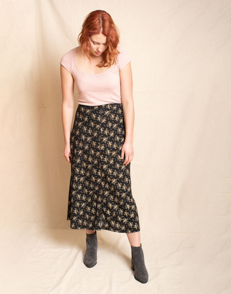 90s floral skirt
