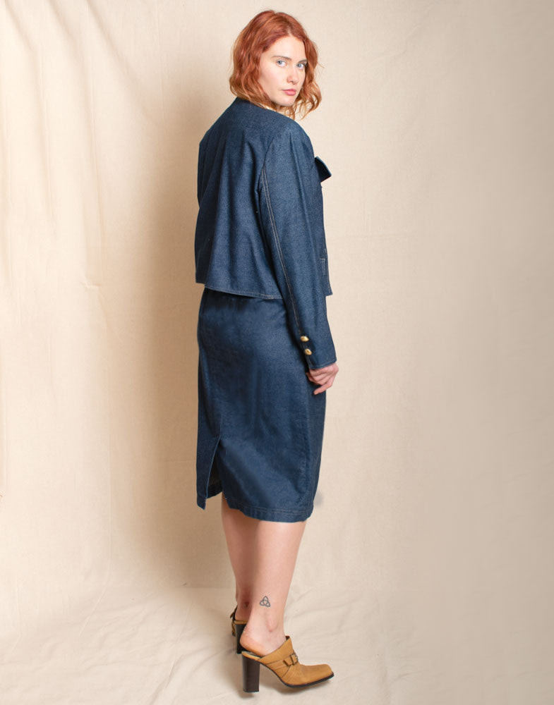 Denim Skirt Suit