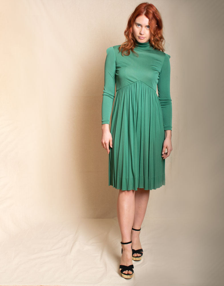 Green Cocktail Dress - Vintage
