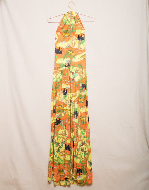 Trippy Jungle Halter Maxi Dress