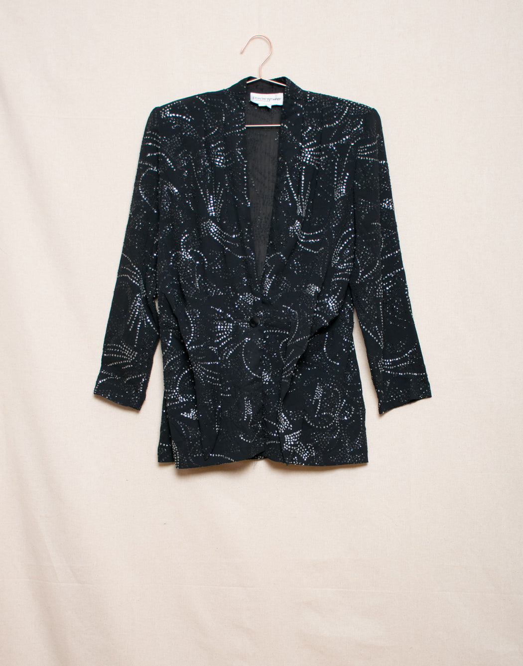 Black sparkle sheer jacket