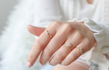 Statement Grey Stacking Rings