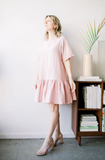 Emma Knudsen - Pink Lauren T-shirt Dress