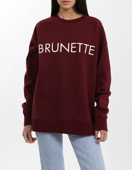 Brunette The Label Crewneck - Burgundy
