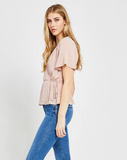 Gentle Fawn Blossom Wrap Top