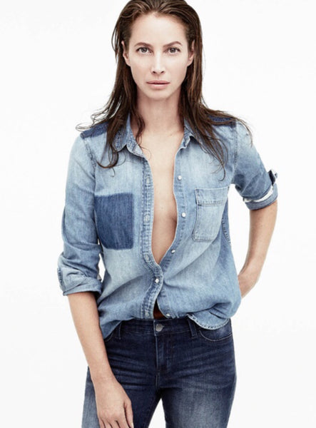 Christy Turlington in Double Denim