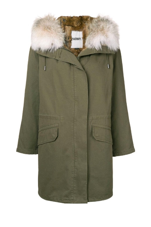Yves Salomon Classic Army Parka - Hunter