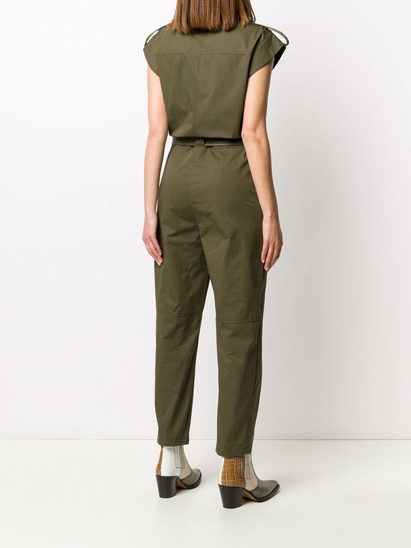 Yves Salomon Cotton Jumpsuit - Hunter Green - SIZE 34 (4996269670535)