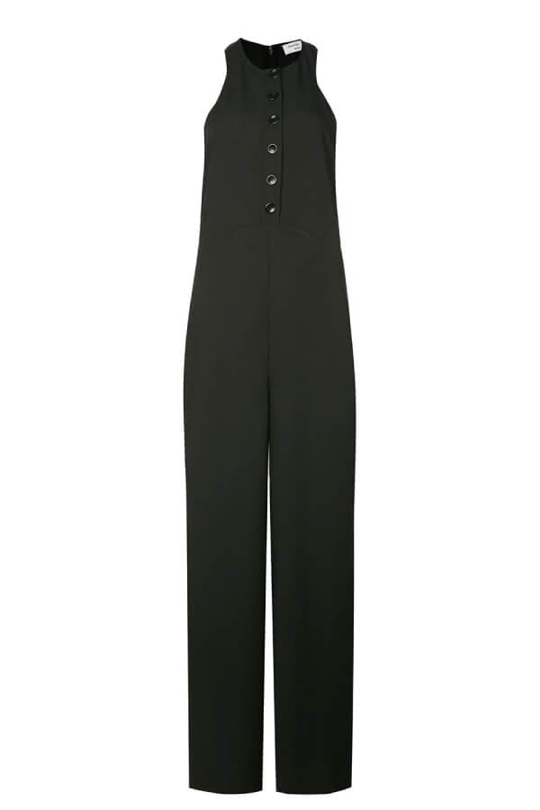 Proenza Schouler White Label Sleeveless Jumpsuit - Black (4293987401863)