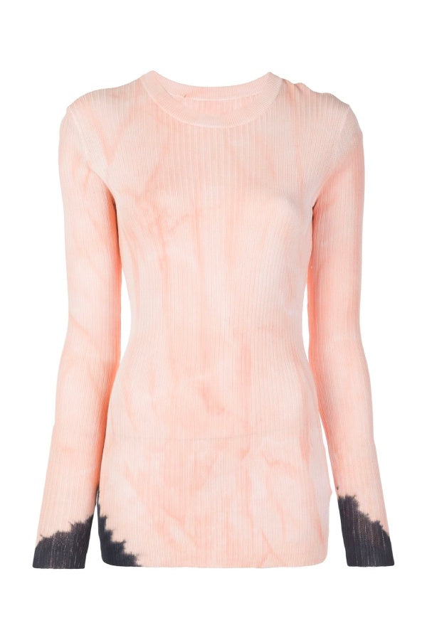 Proenza Schouler Tie Dye Sweater - Dark Salmon/ Black (4640614744199)