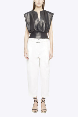 3.1 Phillip Lim P201-5427CNS Belted Utility Pant - Antique White Front