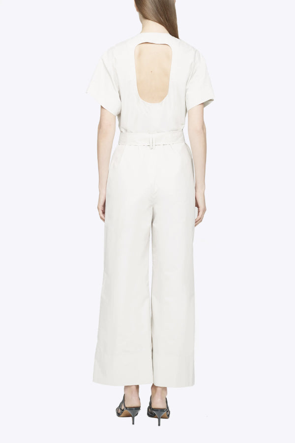 3.1 Phillip Lim P203-5130LCP Short Sleeve Jumpsuit - Stone Back