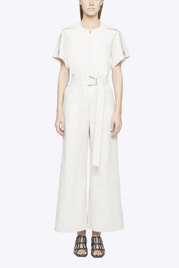3.1 Phillip Lim P203-5130LCP Short Sleeve Jumpsuit - Stone