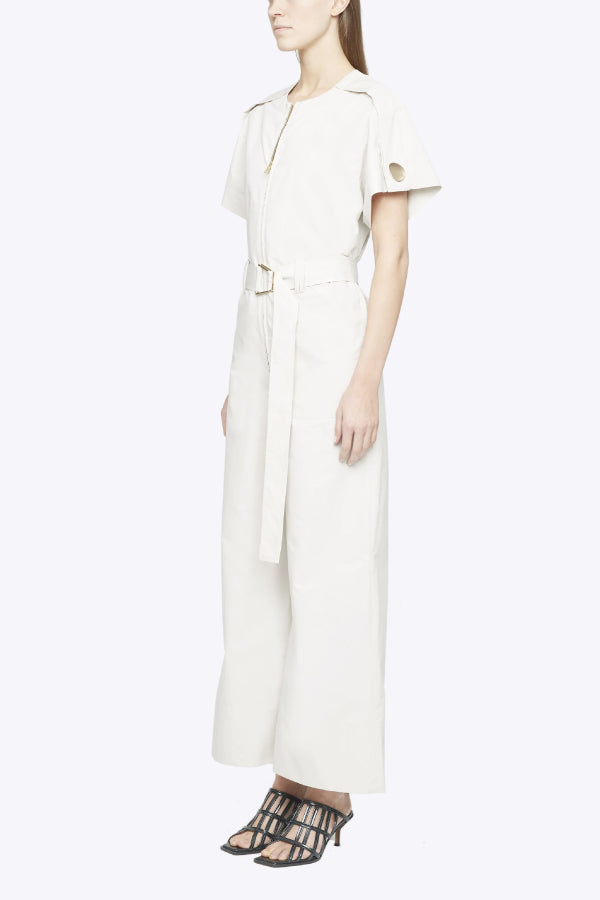 3.1 Phillip Lim P203-5130LCP Short Sleeve Jumpsuit - Stone Side