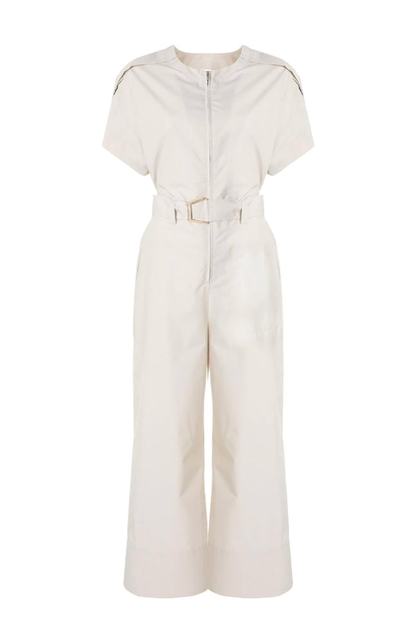 3.1 Phillip Lim Short Sleeve Jumpsuit - Stone