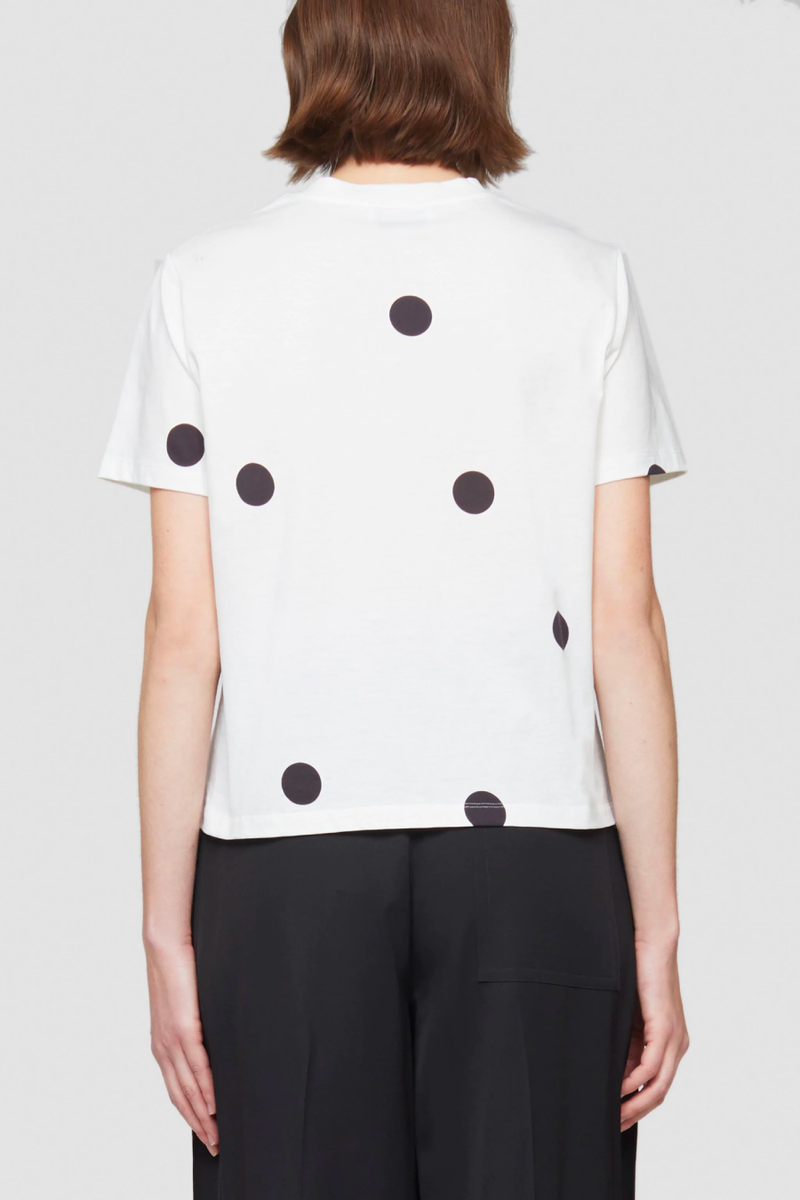 3.1 Phillip Lim S212-1800DPS Dot Print T-Shirt - Antique White/ Black Back