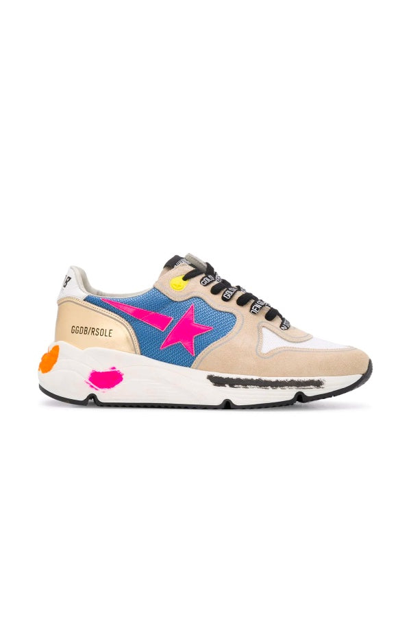 Golden Goose Running Sole Sneakers - Pearl/ Fuchsia