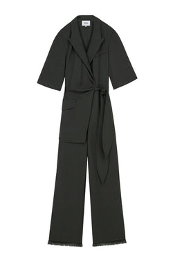 Nanushka Astero Tech Linen Wrap Jumpsuit - Amazon Green (4749984497799)