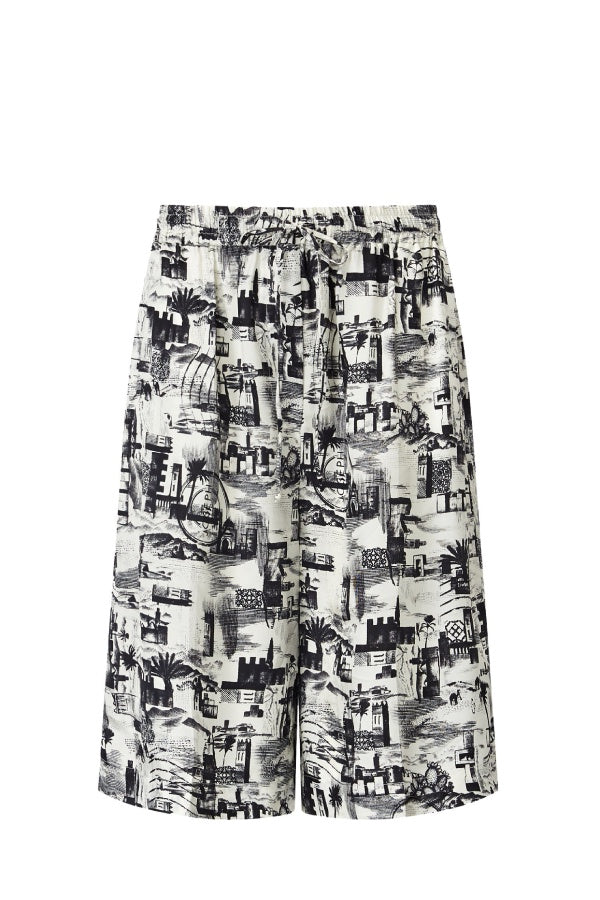 Joseph Small Stamp Print David Shorts - Black (4625478713479)