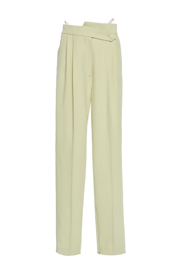 Petar Petrov Herve Double Pleat Pant - Linden (4386822357127)