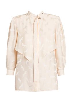 Stella McCartney Jacquard Horses Shirt - Natural (4641198735495)