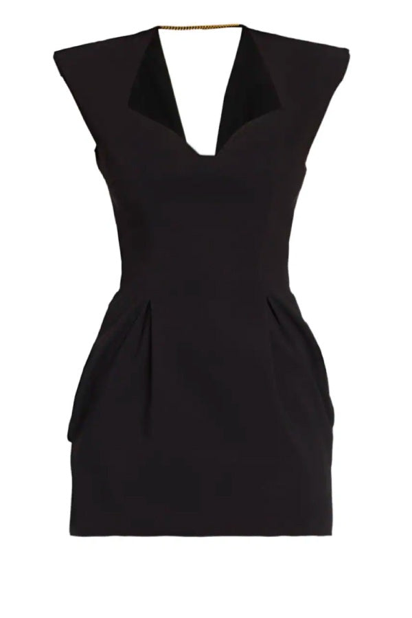 Versace Heritage Neckline Mini Dress - Black